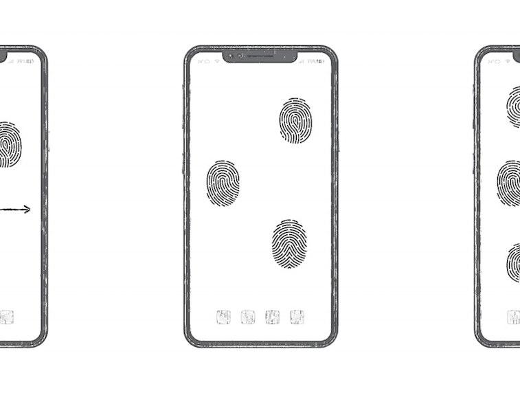 Huawei has patented an all-screen fingerprint unlock technology.