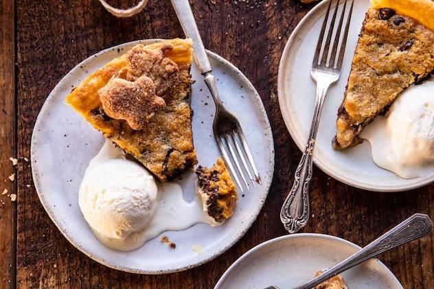 chocolate chip cookie pumpkin pie