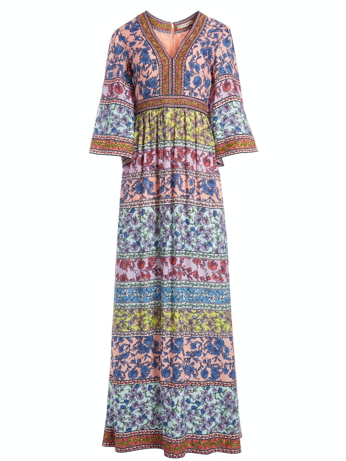 Embroidered Kimono Dress