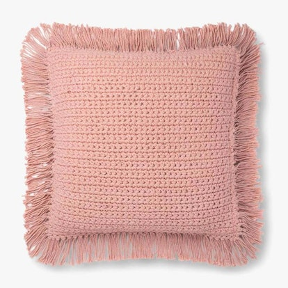 Cardiff Pink Fringe Pillow