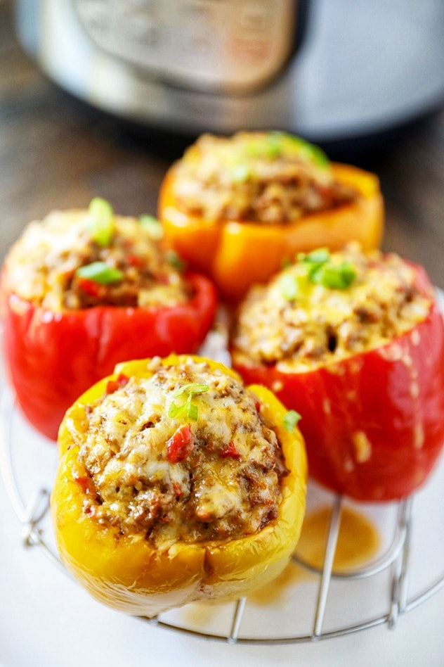 Instant pot stuffed peppers from No.2 Pencil