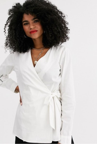 Mamalicious Nursing Tie Front Wrap Shirt