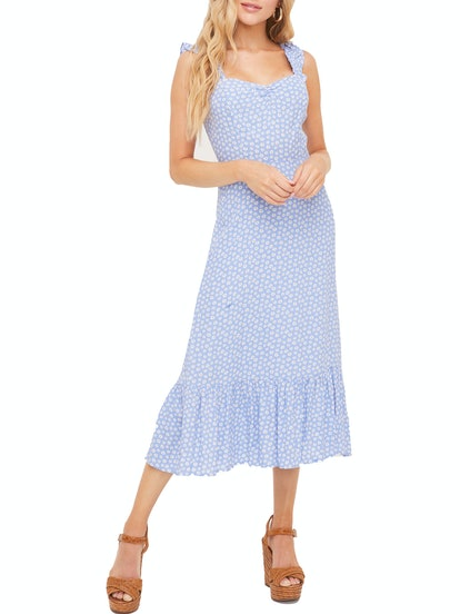 Ruffle Strap Midi Dress