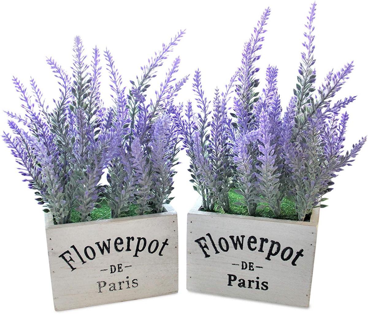 Butterfly Craze Artificial Lavender Plant (2-Pack)
