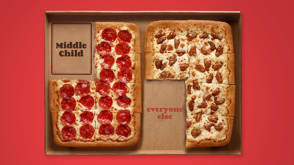 Pizza Hut's National Middle Child 2020 giveaway includes two medium pizzas.