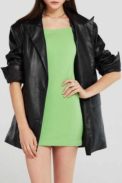 Veronica Padded Pleather Jacket