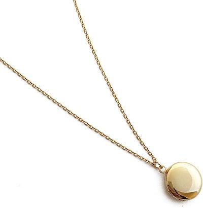 HONEYCAT Keepsake Mini Locket Necklace in 18k Gold Plate