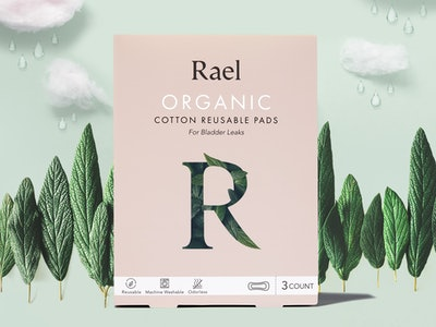 rael organic cotton reusable pads for bladder leaks