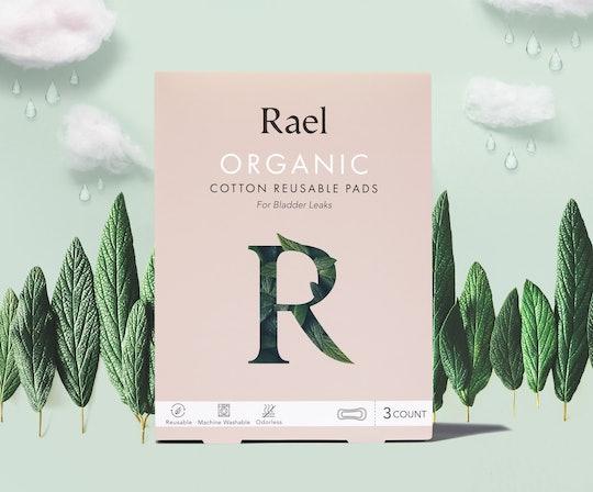 rael organic cotton reusable pads for bladder leaks