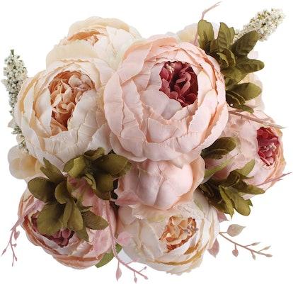 Duovlo Artificial Peony Silk Flowers (6-Pack)