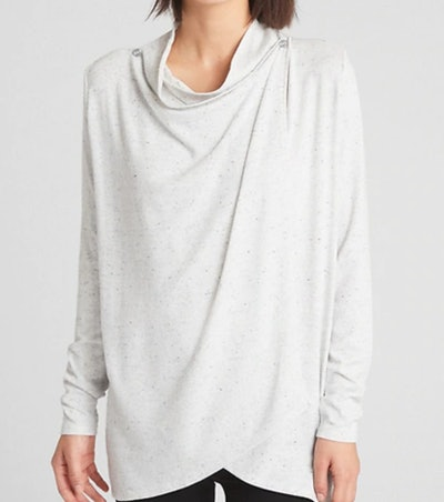 Maternity Drapey Nursing Knit Cardigan