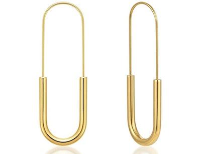 Lane Woods Gold Hoop Earrings