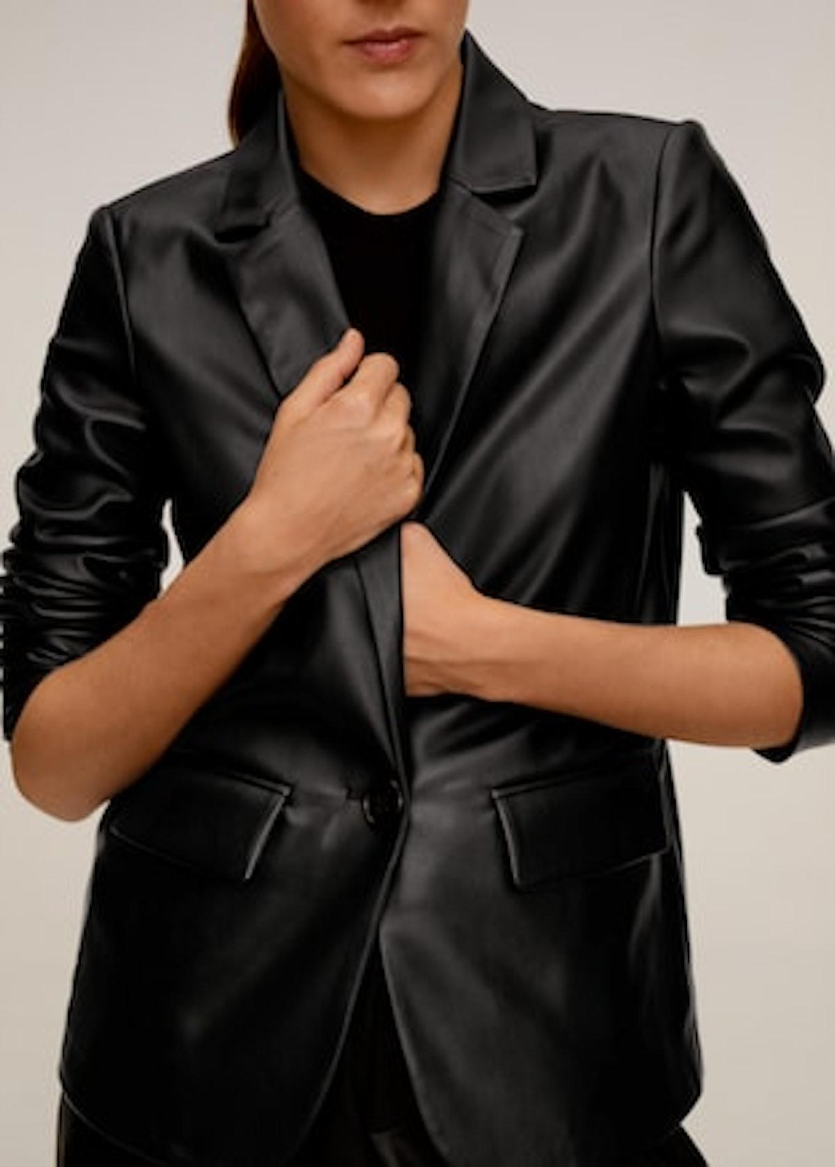 Pockets structured blazer