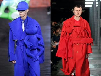 Two similar-looking designs from designers Abloh and Van Beirendonck