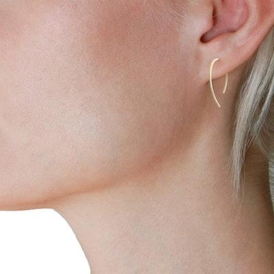 Humble Chic Upside Down Hoop Earrings