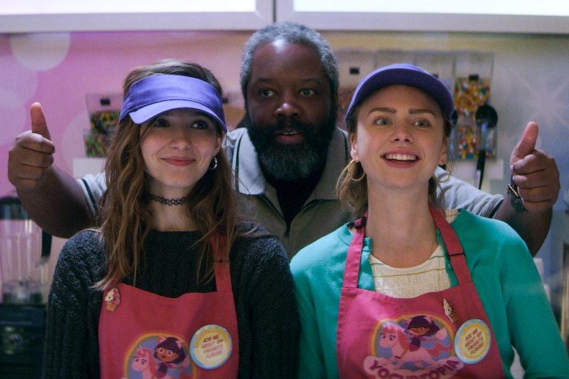 Anjelica Bette Fellini as Blair, Kadeem Hardison as Bowser, and Maddie Phillips as Sterling in 'Teenage Bounty Hunters' via Netflix press site