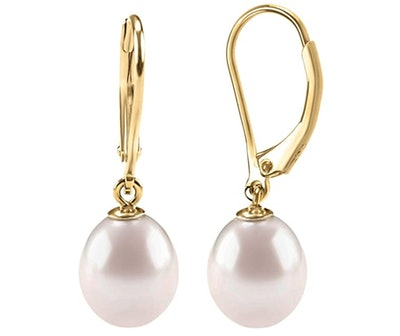 PAVOI Handpicked Freshwater Leverback Pearl Earrings