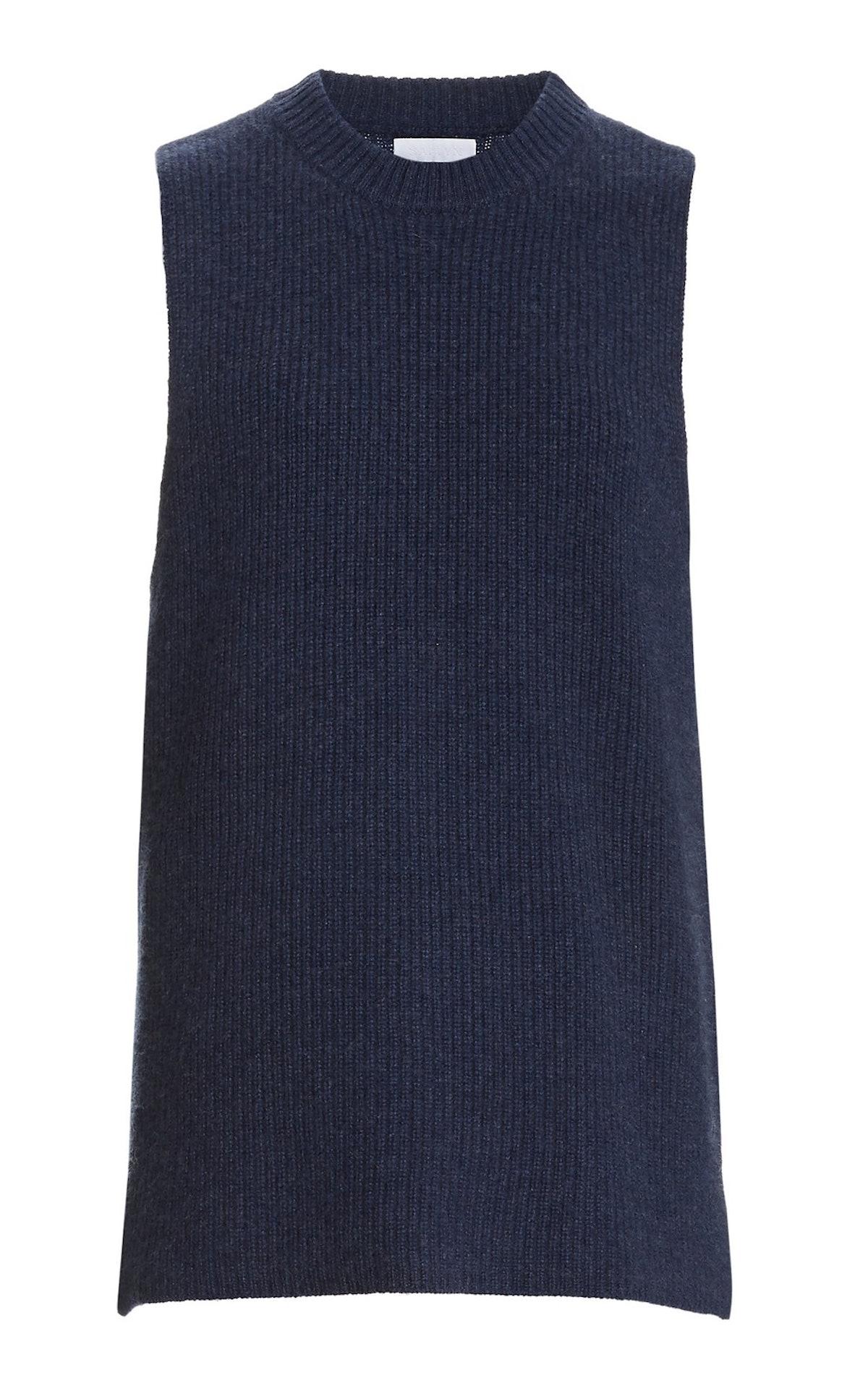 Ashley Cashmere Sleeveless Sweater