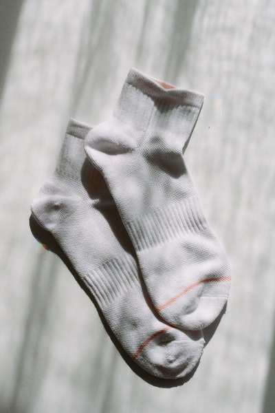 White Quarter Crew Socks