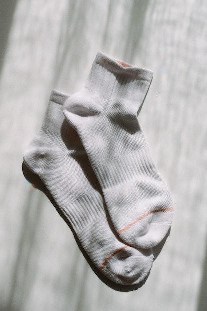 White Quarter Crew Socks