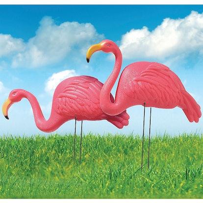 Pink Flamingo Yard Stakes 2ct