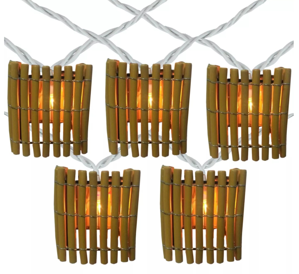 Northlight 10-Count Brown Tropical Bamboo Outdoor Patio String Light Set