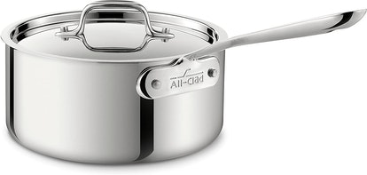 All-Clad Stainless Steel Sauce Pan with Lid (3 quart)