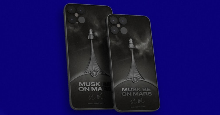 Elon Musk-themed iPhone 12 that's going on sale for $6,000.