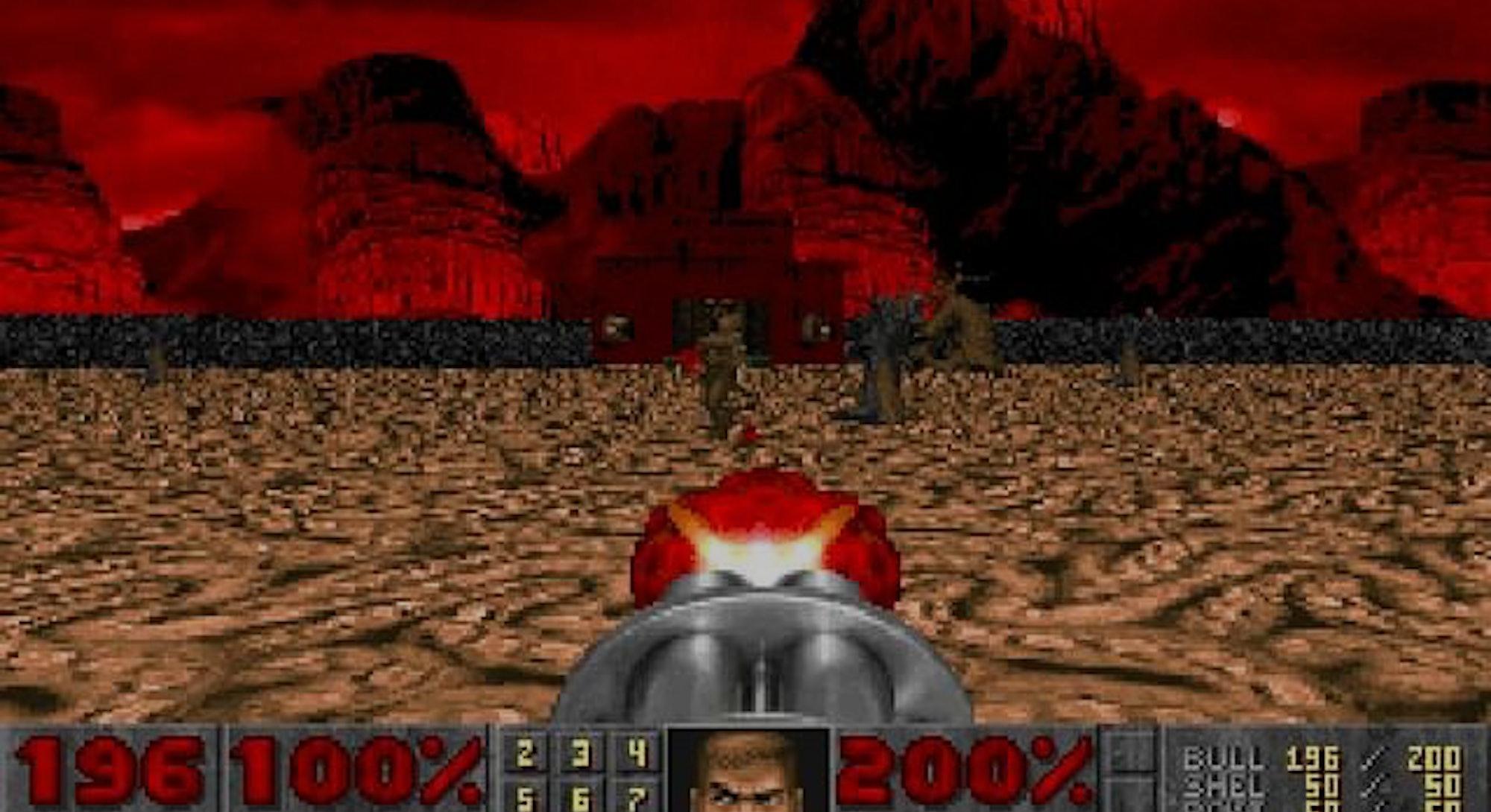 A screenshot of Doom.
