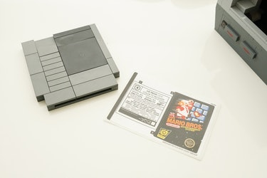 Decals for the back of the Lego TV set and the Super Mario Bros. cart.