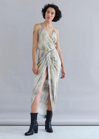 Honeycomb Wrap Dress