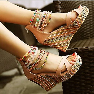 getmorebeauty Platform Wedges