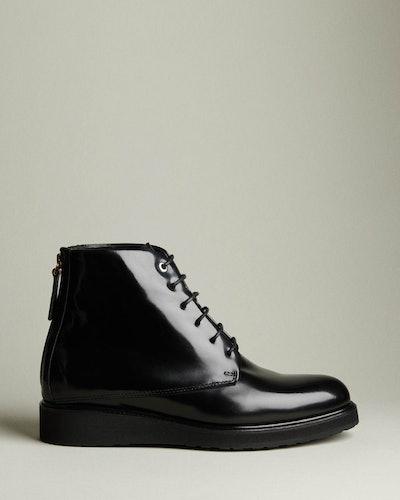 Menara High Leather Zip Boot