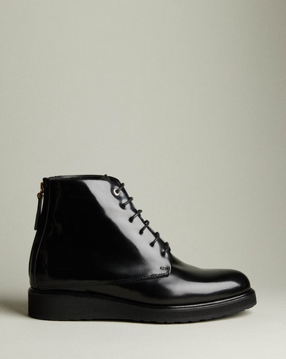 Menara High Leather Zip Boot