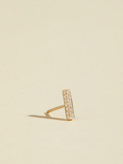 Diamond Pavé Bar Earring