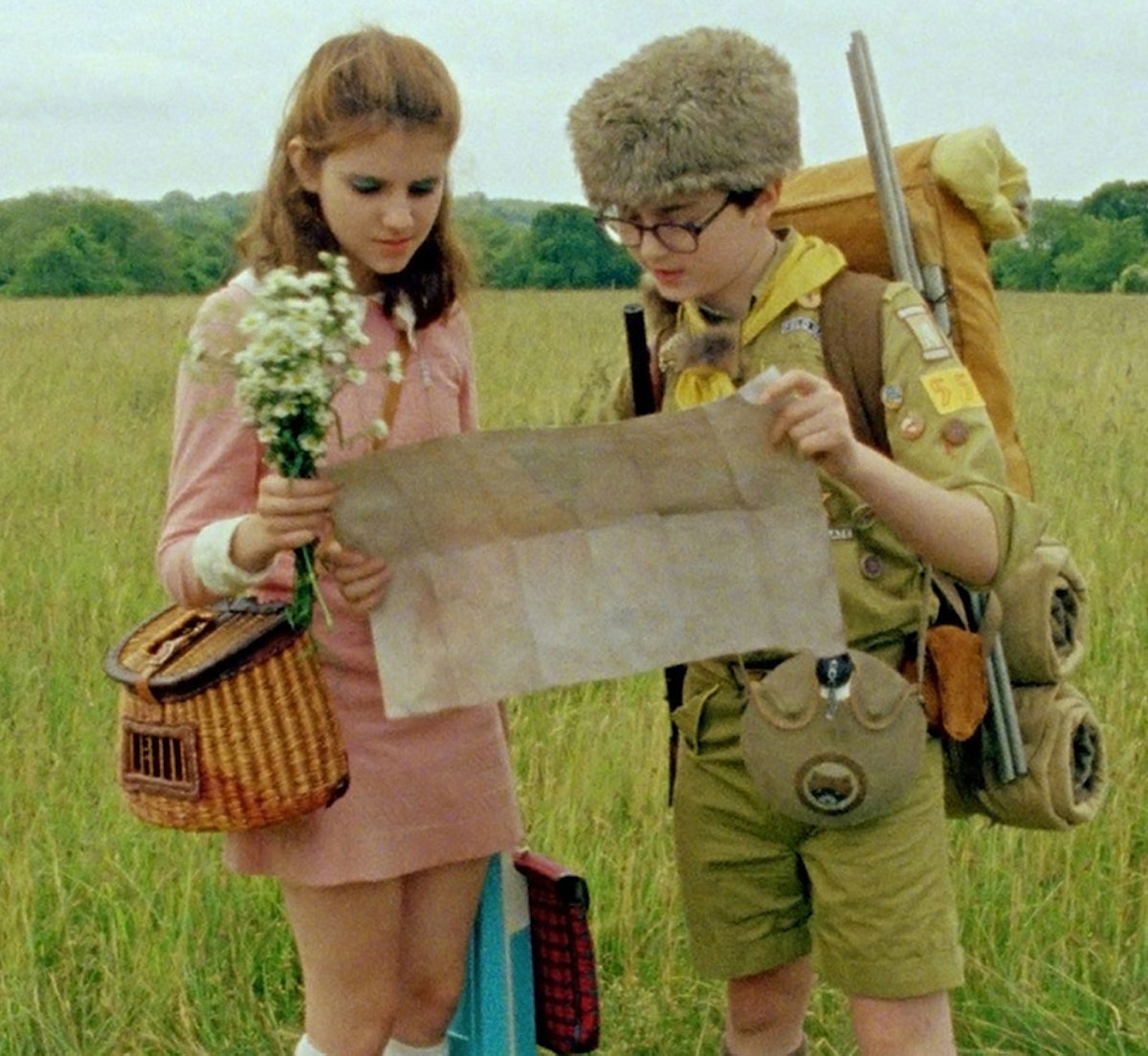 """""""Moonrise Kingdom"""" has so many cute scenes that are perfect to inspire your next date."""