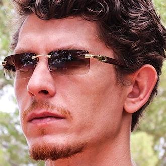Elite Slim Rimless Sunglasses