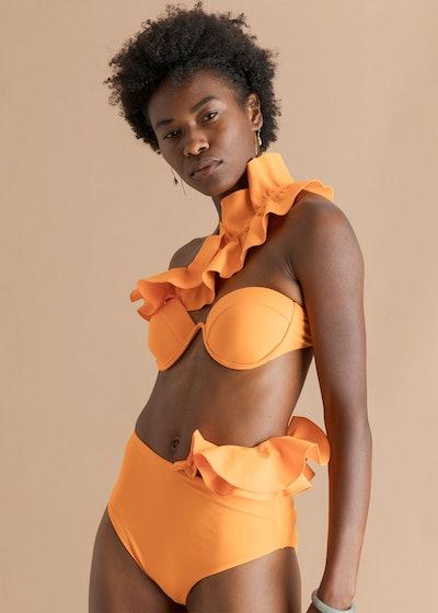 Kari Orange High Waist Bikini