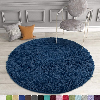 MAYSHINE Round Bath Mat (34 inches)