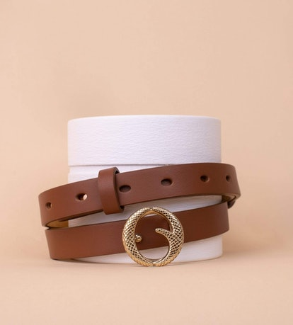 Mini Brass Buckle Belt