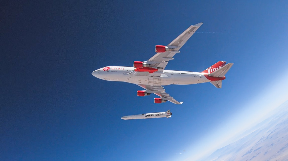 Virgin Orbit Boeing 747.