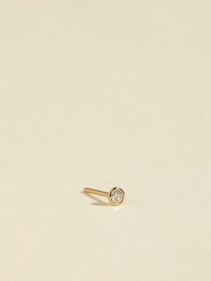 Diamond Bezel Stud Earring