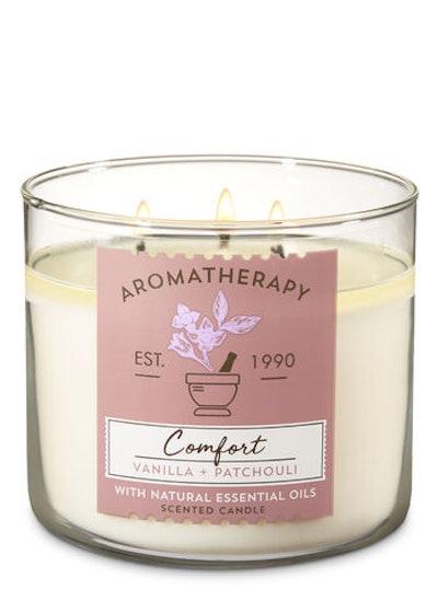 Aromatherapy Vanilla Patchouli 3-Wick Candle