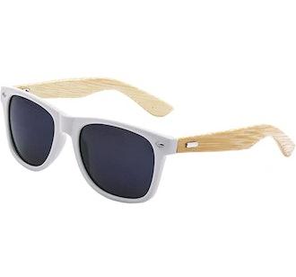 LogoLenses Bamboo Arm Sunglasses