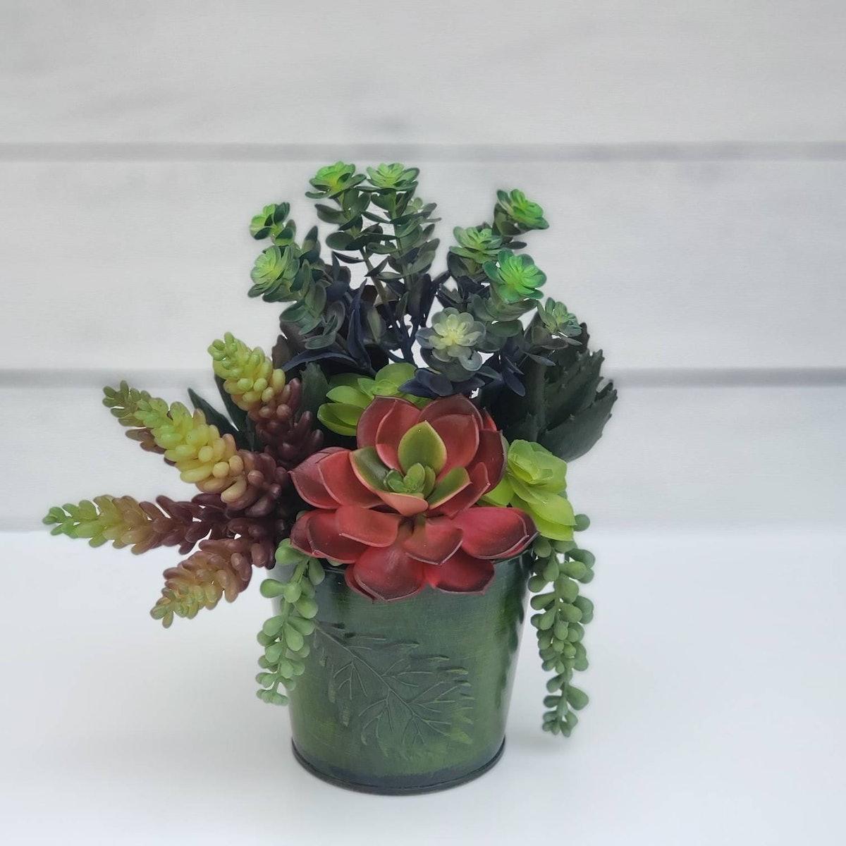 Fall Succulent Table Decor