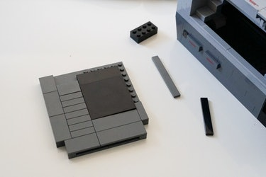 The Lego cartridge before stickers are applied.