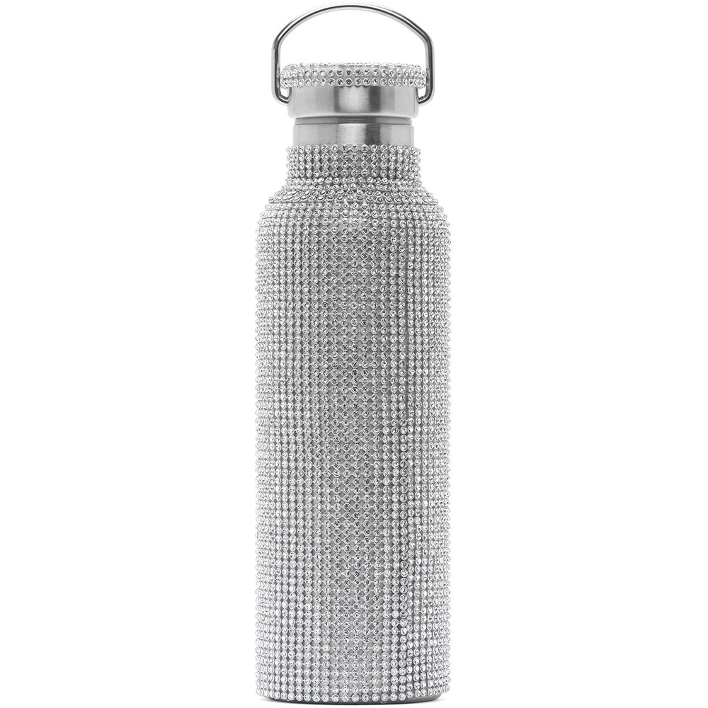 SSENSE Exclusive Silver Rhinestone Water Bottle