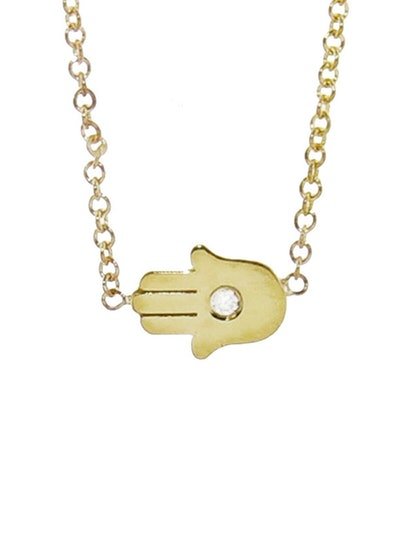 Jennifer Meyer Mini Hamsa Diamond Necklace