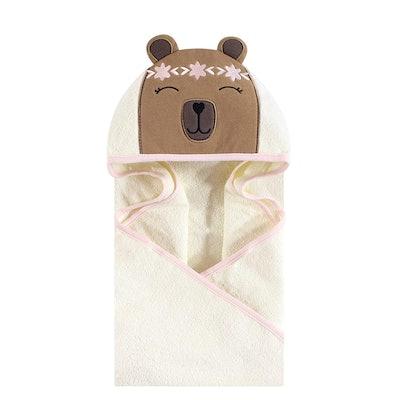 Hudson Baby Unisex Cotton Animal Face Hooded Towel (Boho Bear)