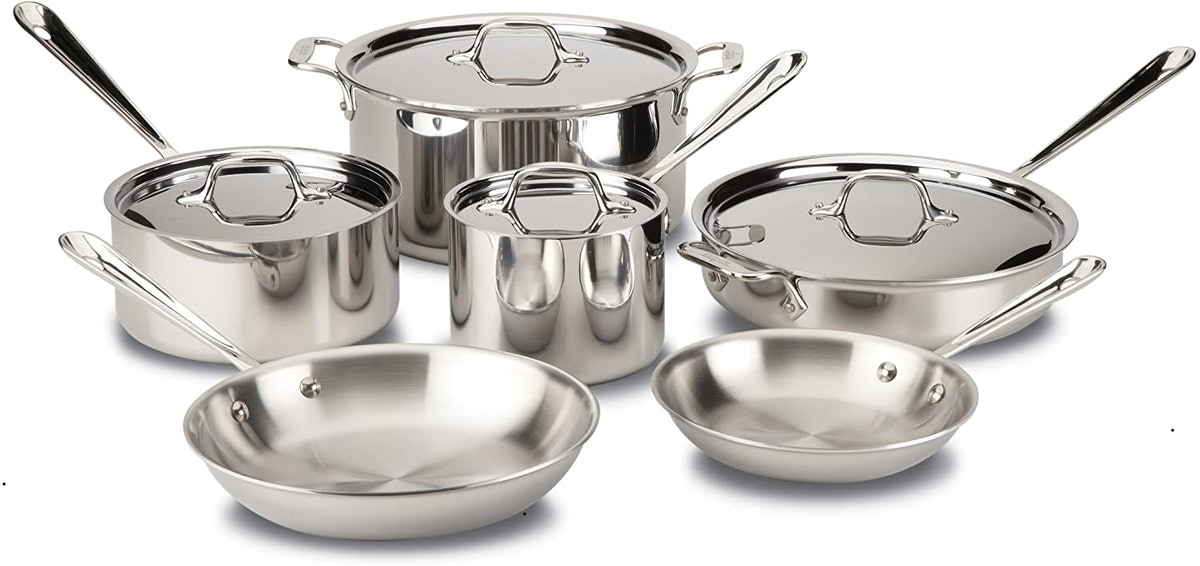 All-Clad D3 Stainless Cookware Set (10-Piece)